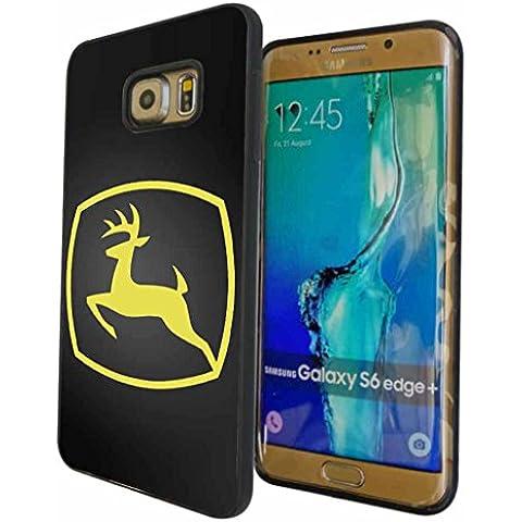 Samsung Galaxy S6 Edge Plus Custodia Case Cover, Ultrasottile John Deere Car Luxury Brand Logo Shell, Printed Marca Logo Cover per Samsung Galaxy S6 Edge Plus