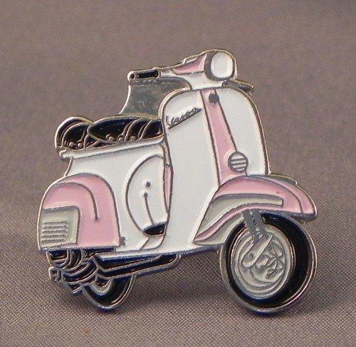 pin-de-metal-esmalte-broche-vespa-rosa-y-blanco