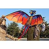 GZQ Cometa de Dinosaurio para Los Niños, Cometa Grante Diseño de Dragón, Juguetes voladores