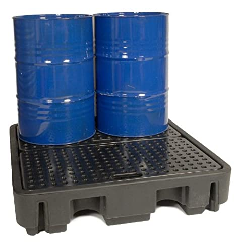 4 Drum Spill Containment Pallet (BLACK)