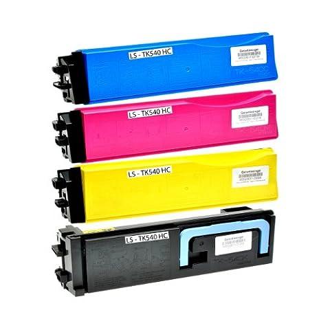 Set Toner für Kyocera TK-540 schwarz+color, kompatibel