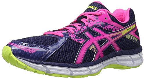 Asics Womens Gel-Excite 3 Running Shoe Midnight/Hot Pink/Flash Yellow