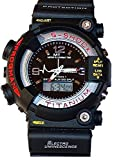 Rokcy Analogue-Digital Black Dial Men's & Boy's Watch (S-Shock Big Black)