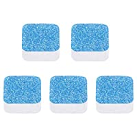Youngnet 5/10 PCS Cleaning Sheet Effervescent Tablets Washing Machine Cleaner Descaler Deep Cleaning Remover Deodorant Durable(Blue) (A)