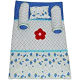 Creative Textiles Kids Soft Cotton Printed Bedding Set With Foldable Mattress Super Soft Full Sleeping Set -Trusted Brand High Quality / For Child Whose Age Is B/w 0 - 30 Months Or 2.5 Years / 2 Pillows , 1 Super Soft Sleeping Base, 1 Rectangular Pillow /