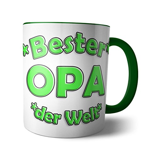 Tasse 'Bester PAPA MAMA OMA OPA' Kaffee Geburtstag Becher Espresso Beste Lieblings Vatertag Muttertag Geschenkidee, Verpackung:Weiße Box, Design:Design 4