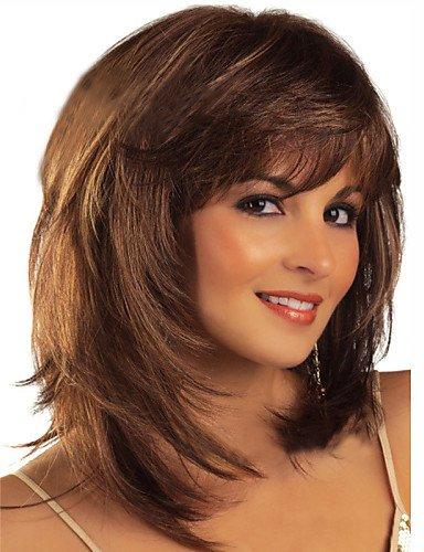 Perruque & xzl Perruques Fashion cheveux européens et américains ppopular couleur à la mode de haute qualité perruques perruques d'ondes naturelles