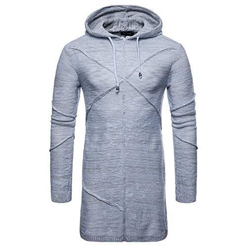 Luckycat Herren Hooded Solid Knit Trenchcoat Jacke Strickjacke Langarm Outwear Bluse Mode 2018