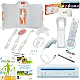Nintendo Wii Konsole - Sport und Fitness Set, EA Balance Board, Wii Fit Plus, Wii Sports (5 Spiele), Sports Value Activity Pack 5 in 1 Zubehör Set, Nintendo Remote Plus und Nunchuck Controller