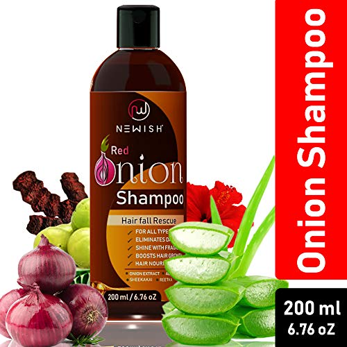 Newish Red Onion Shampoo For Hair Growth and Hairfall Control (Pack of 1)