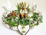Osterdeko Osterkranz IN DEN AUEN Frühlingsdeko Tischkranz Hase Huhn Luxus Shabby Vintage Wohndeko