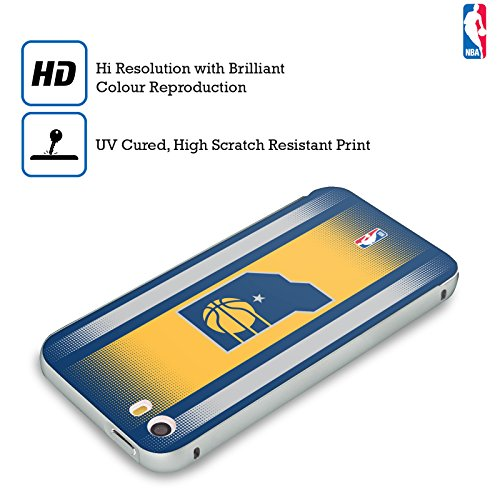 Ufficiale NBA Righe Indiana Pacers Argento Cover Contorno con Bumper in Alluminio per Apple iPhone 6 Plus / 6s Plus Gradiente Mezzotono