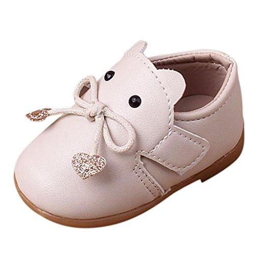 Zapatos De Bebé, K-youth® Bowknot Primeros Zapatos para Caminar La Princesa del bebé Sola Suave Calza...