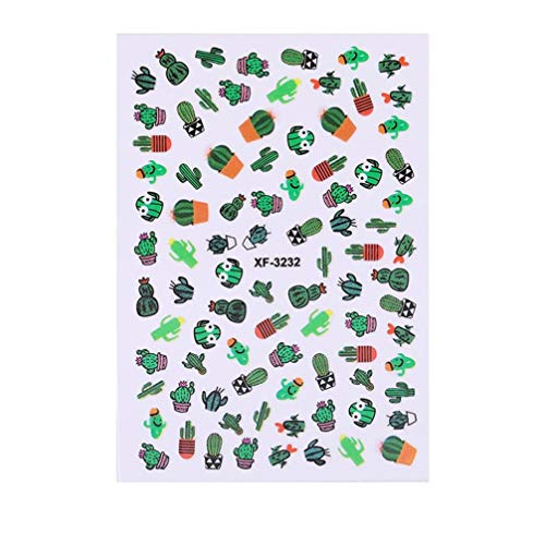 Koojawind Sommer Bunte FrüChte Patch Kleine Frische Pflanzen SüßE 3D Nail Sticker, Selbstklebende Nail Decals Nail Art Designs FüR Frauen MäDchen - Verschiedene Blumen/Schmetterling/Sterne