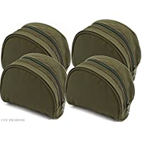 4 X Green Fishing Reel Cases For Coarse Carp Fishing Reels Tackle NGT