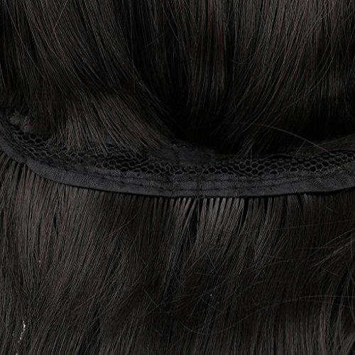 Volle Perücken Langen Lockigen Haaren Flauschigen Wellige Perücken Dunkelbraun Schwarz