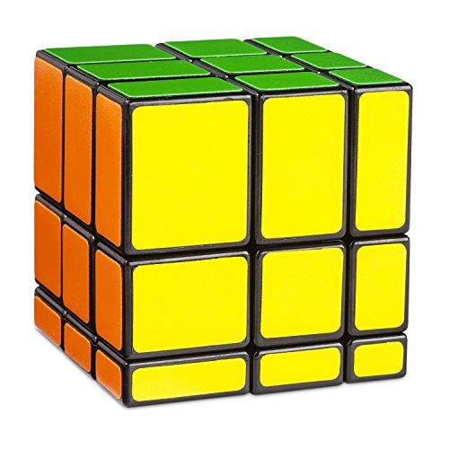 Cubikon Mirror Cube Ultimate - 3x3 Zauberwürfel verändert die Form (Shape-Shift) - Original Speed-Cube mit Cornercutting - Bunte Standardfarben - Denksport