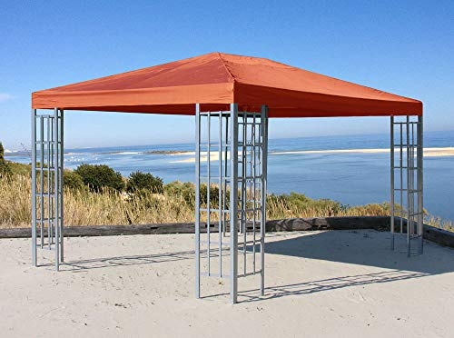 Quick-Star Rank Pavillon 3x4m Metall Garten Partyzelt Terra