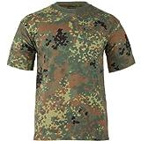 Military Combat T-Shirt German Army Flecktarn Camouflage