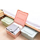 #10: Di7ma Plastic Under Bed Cloth, Shoes, Blanket, Toy, Storage Box, Home Office Book, Socks, Ties, Storage Box, Bins Organizer Clothes Containers Drawers For Under Garments etc.