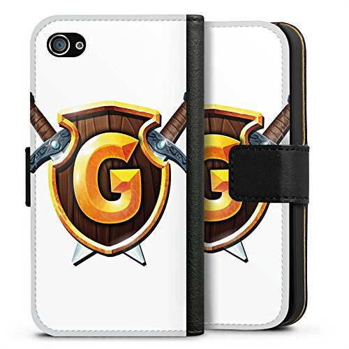 Apple iPhone X Silikon Hülle Case Schutzhülle GommeHD Fanartikel Merchandise Wappen weiß Sideflip Tasche schwarz