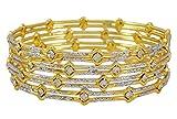 Banithani Traditionelle indische Armreifen Set Armband Vergoldet Schmuck Geschenk für Frauen 2 * 10