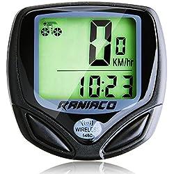 Ordenador Para Bicicleta, Velocímetro Inalámbrico de Bicicleta, Cuentakilómetros para bicicleta de múltiples Funciones para el Ciclismo