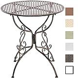 CLP Eisentisch AMANDA im Jugendstil I Robuster Gartentisch mit kunstvoll verzierten Tischbeinen I In verschiedenen Farben erhältlich Bronze