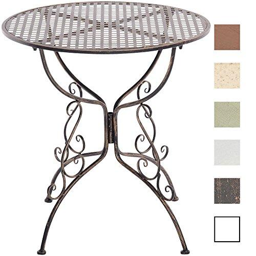 CLP Eisentisch Amanda im Jugendstil I Robuster Gartentisch mit kunstvoll verzierten Tischbeinen I erhältlich Bronze