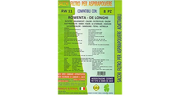 SACCHI DE LONGHI XTL 150 XTC 155 E SILVER FLOORLINE 1300 ELECTRONIC XT 1200 1300