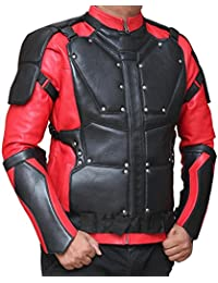 Will Smith Deadshot Suicide Squad Red And Black Synthetic Leather Jacket - Will Smith Deadshot Suicide Squad Chaqueta de cuero sintética roja y negra