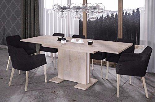 Endo Esstisch Linea 210 ausziehbar erweiterbar Küchentisch Esszimmertisch Säulentisch // Sonoma Eiche -