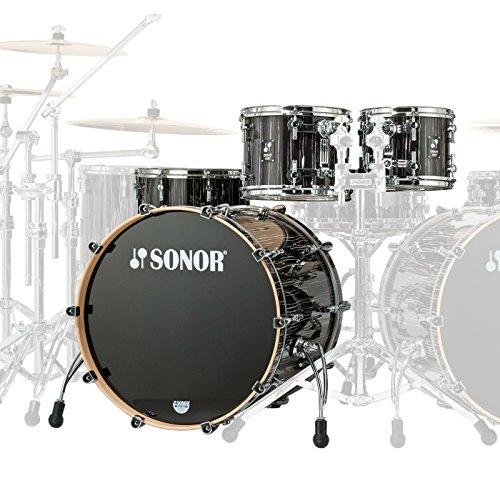 Sonor ProLite PL 12 Stage 3 Ebony White Stripes · Batería