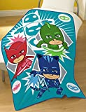 PJ MASKS Time to be a Hero Fleece Blanket, Polyester, Multi-Colour, Full