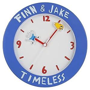 Adventure Time Wanduhr mit Finn und Jake Zeiger blau weiß 25,5cm Kunststoff
