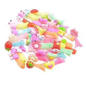 MagiDeal 30 Stück Süße Gemischt Kinder Haarspangen Haarschnellclips Haargriff Spangen Stirnband