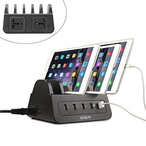 usb-charging-station-lvsun-60w-12a-5-ports-charging-dock-includes-quick-charge-20-boost-fast-chargin