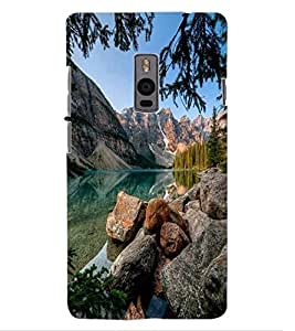 ColourCraft Beautiful Scenery Design Back Case Cover for OnePlus Two