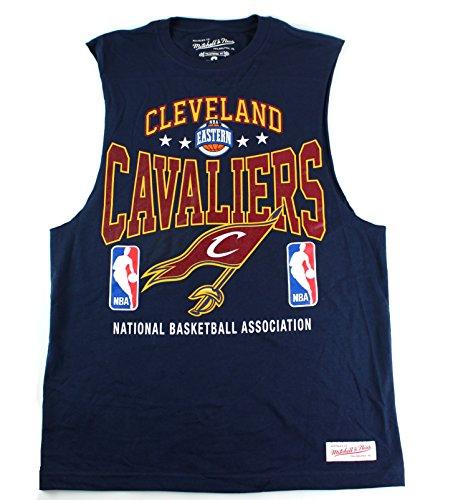 Jersey Ärmellos Cap (Mitchell & Ness Cleveland Cavaliers NBA Herren Power Rankings Ärmelloses Muskel T-Shirt, Unisex, Navy, Small)