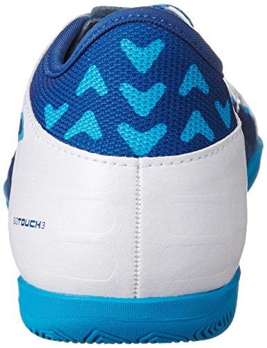 Puma Evotouch 3 It Jr, Chaussures de Football Mixte Enfant Blanc (Puma White-true Blue-blue Danube 02)