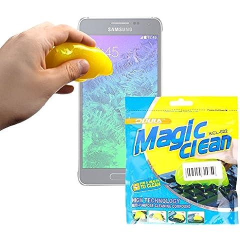 DURAGADGET Potente Gel Limpiador Para Samsung Galaxy Alpha - Innovador Sistema Para Limpiar La Superficie De Su Móvil O Smartphone