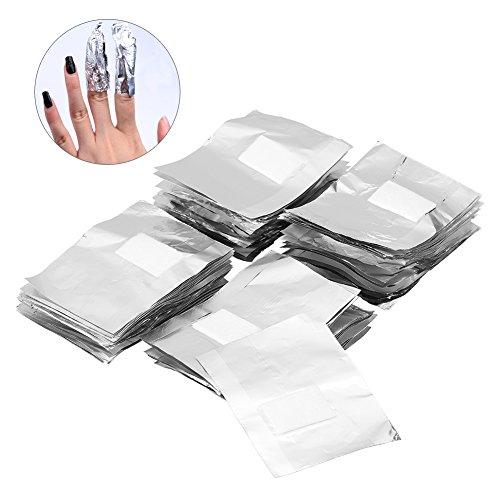 100Pcs carta stagnola nail art impregna fuori polacco UV unghie del gel di rimozione lo stagno del chiodo di arte del wrap strumento manicure