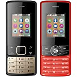 I KALL 1.8 Inch (4.57 Cm) Dual Sim Feature Phone Combo - K20 (Black) And K24 (Red)