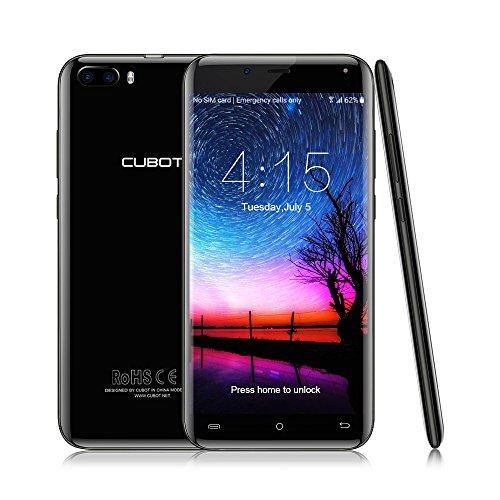 CUBOT Magic Smartphone 4G LTE Ohne Vertrag mit 5,0-Zoll-IPS-Bildschirm, Dual Rückkamera, Dual SIM Standby, Android 7.0,3GB RAM + 16 GB ROM, Bluetooth 4.0 / GPS / WiFi (Schwarz)