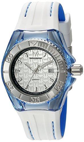 TechnoMarine TM-115158 - Reloj de cuarzo para mujeres, color blanco
