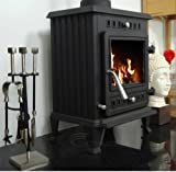 CASTMASTER SALISBURY CAST IRON LOG WOOD BURNIER BURNING MULTI FUELSTOVE 5Kw