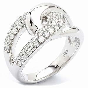 Fossil Damen-Ring 925 Sterling Silber Zirkonia Gr.19 JF16485040