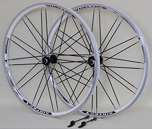 VUELTA 28 Zoll Fahrrad Laufradsatz Trekking XRP II Hohlkammerfelge weiß Messerspeichen schwarz