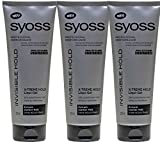 Syoss Invisible Hold X-Treme Hold Liqui-Gel 250 ml Haargel - 3er Pack