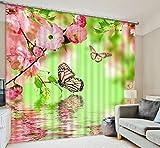 H&M Gardinen Vorhang Schmetterlinge ein warmer Schatten Tuch dekoriert Schlafzimmerfenster Vorhangstoff fertigen 3D-Druck , wide 2.64x high 2.41